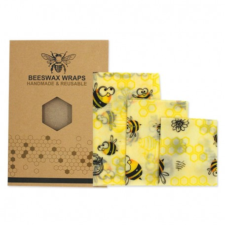 Набор восковых салфеток Eco1shop Beeswax Wraps 3 шт
