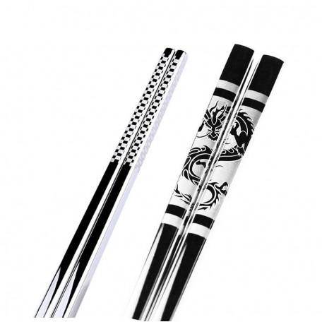 Металлические палочки для еды с узорами Eco1shop 23.5 см