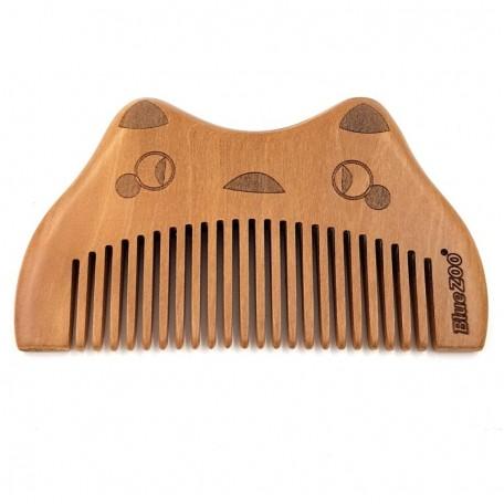 Деревянная расческа-гребешок с узкими зубцами Eco1shop