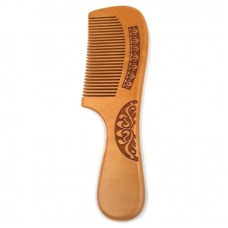 Деревянная расческа с ручкой Eco1shop Резьба