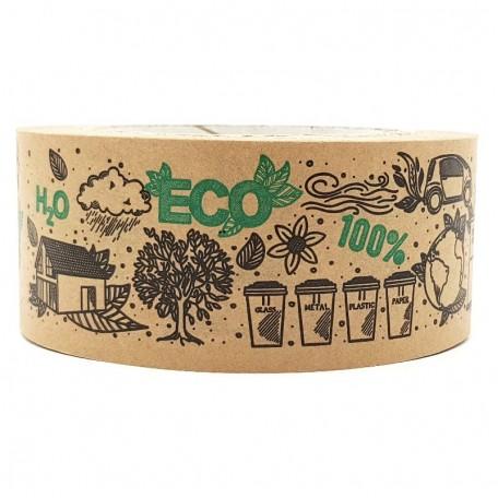 Самоклеящийся крафтовый скотч Eco1shop с рисунком Эко 100%