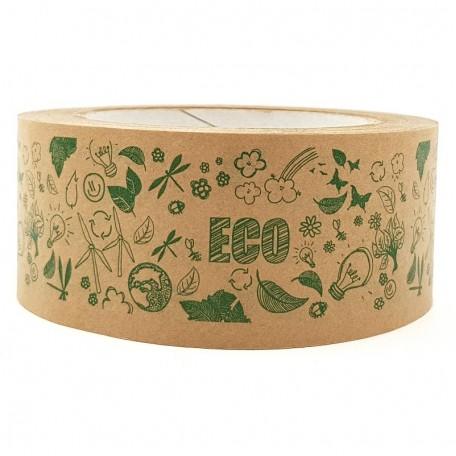 Самоклеящийся крафтовый скотч Eco1shop с рисунком Эко