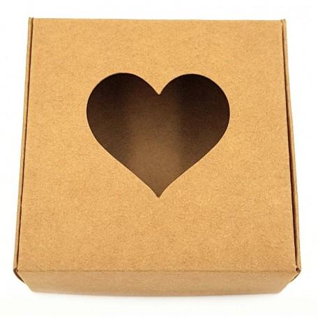 Картонная коробочка Eco1shop Сердце 7,7 см